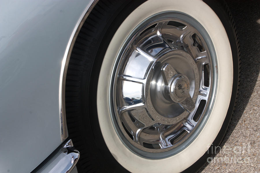 Chevrolet Photograph - 61 Corvette-grey-wheel-9236 by Gary Gingrich Galleries