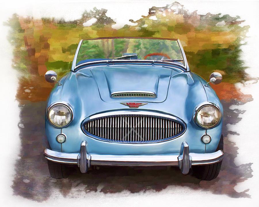 Car Mixed Media - 62 Austin Healy by Deborah Boyd