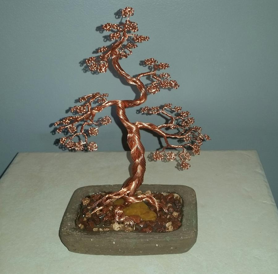 62 Copper Braided Bonsai Tree Wire Sculpture Photograph By Ricks Tree Art