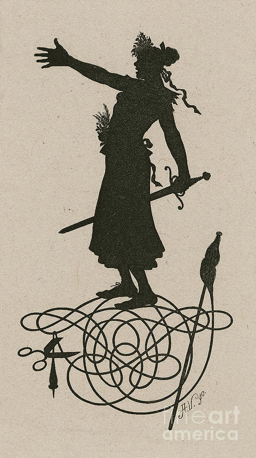 A Silhouette Illustration For Midsummer Night Dream By Shakespea Drawing