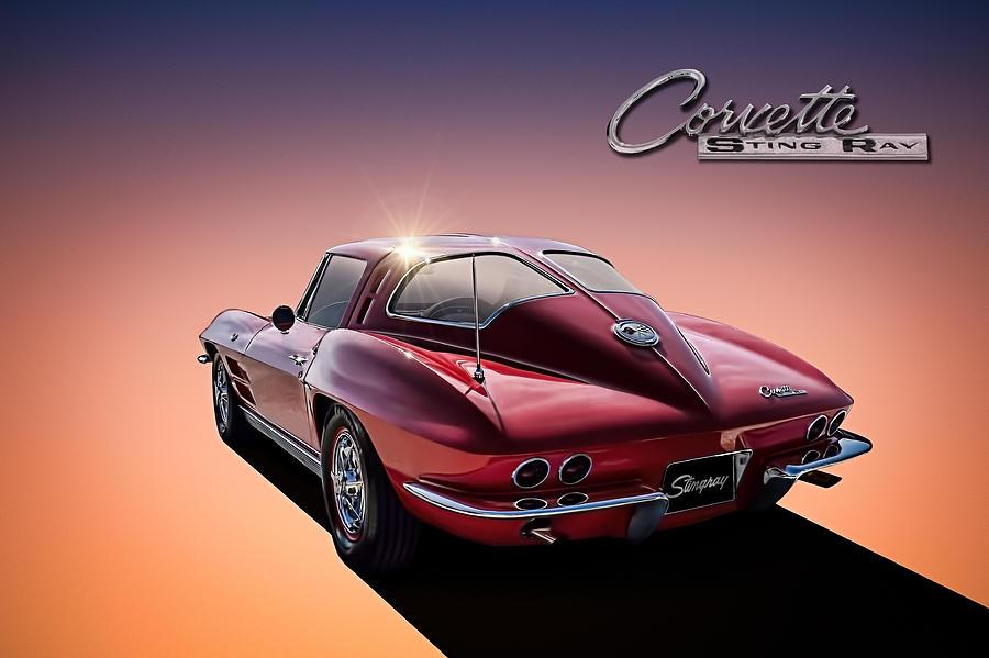 Corvette Digital Art - 63 Stinger by Douglas Pittman