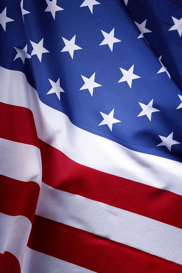 American Flag Photograph - American flag 50 by Les Cunliffe