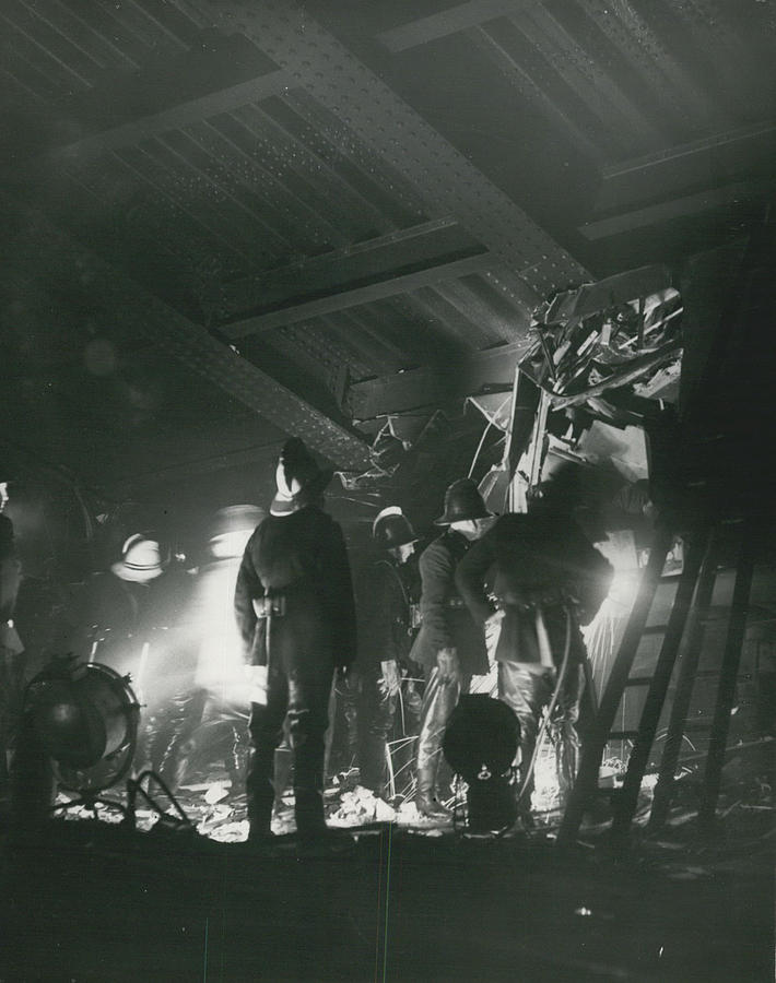 Retro Photograph - 64 Killed In Lewis Ham Rail Disaster by Retro Images Archive
