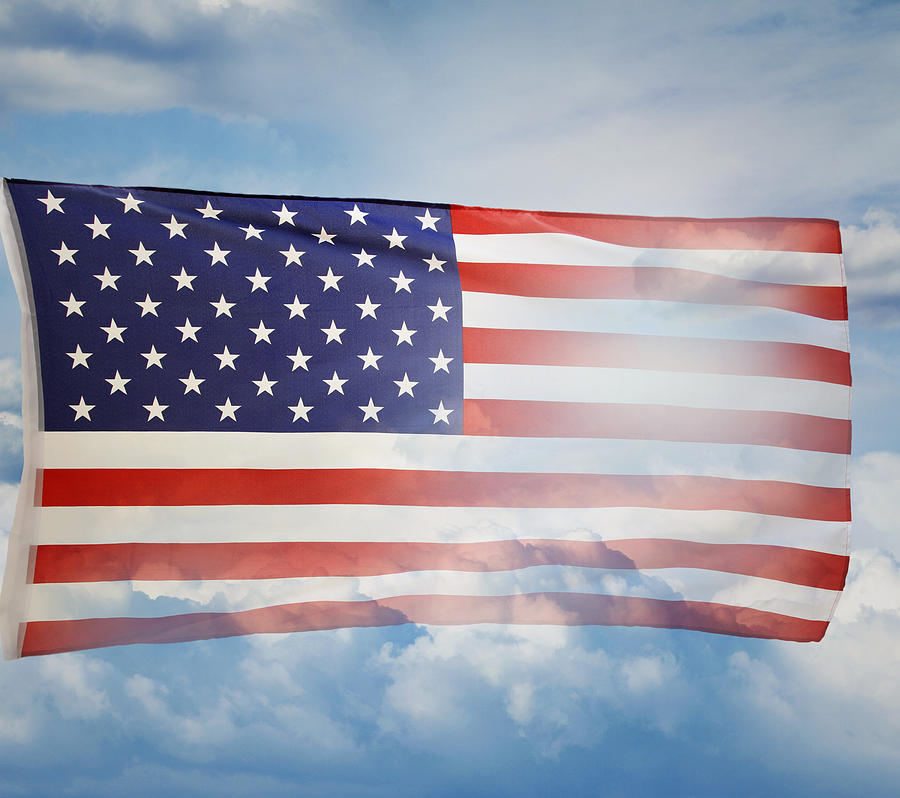 American Photograph - American Flag by Les Cunliffe