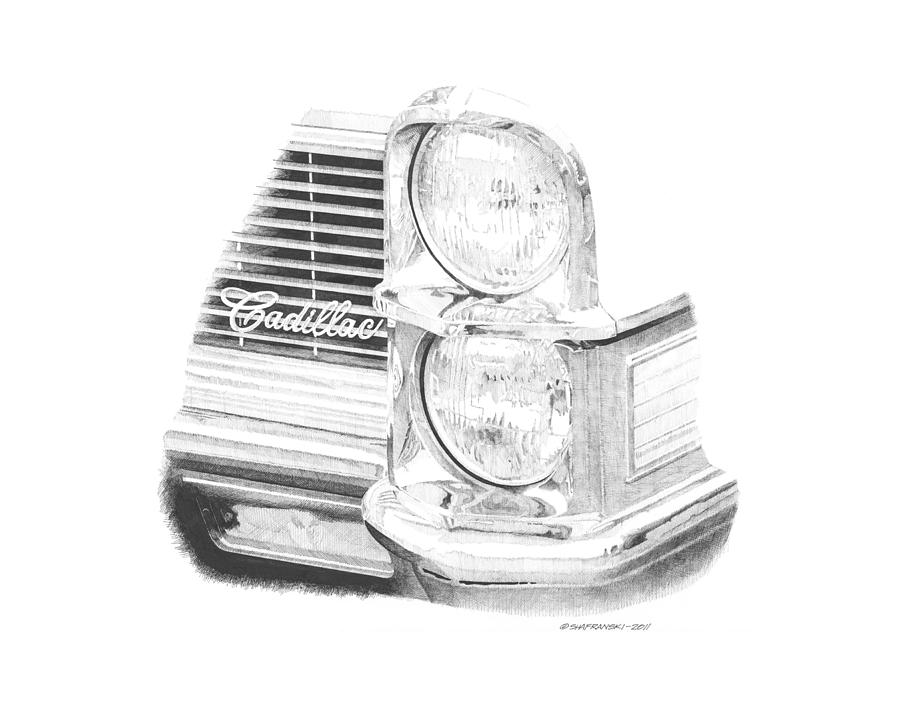 Pen And Ink Drawing - 65 Caddy by Paul Shafranski