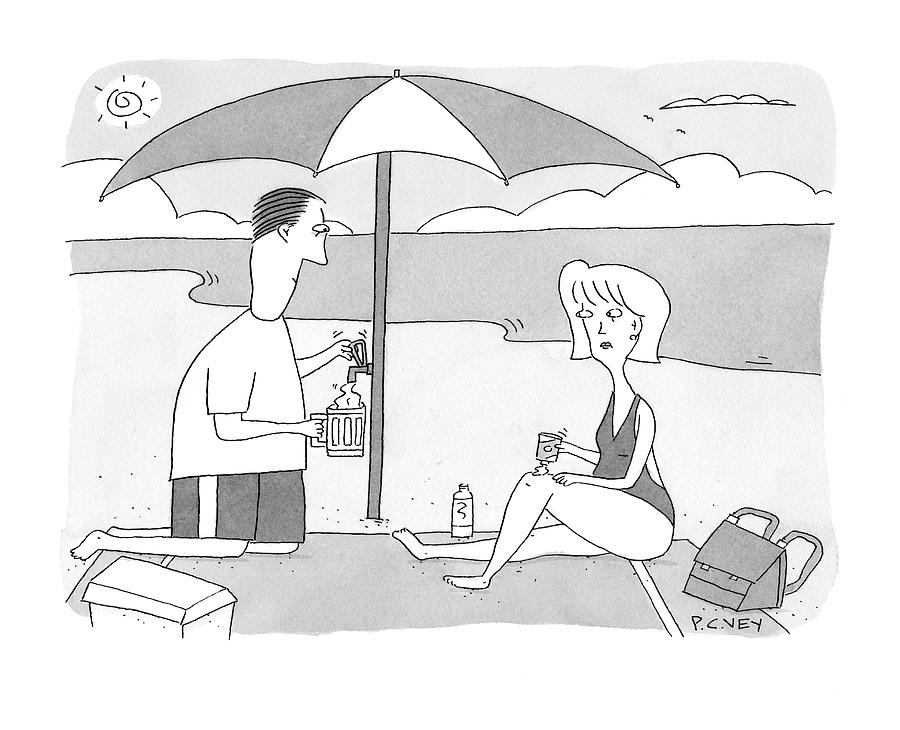 New Yorker July 28th, 2008 Drawing by Peter C. Vey