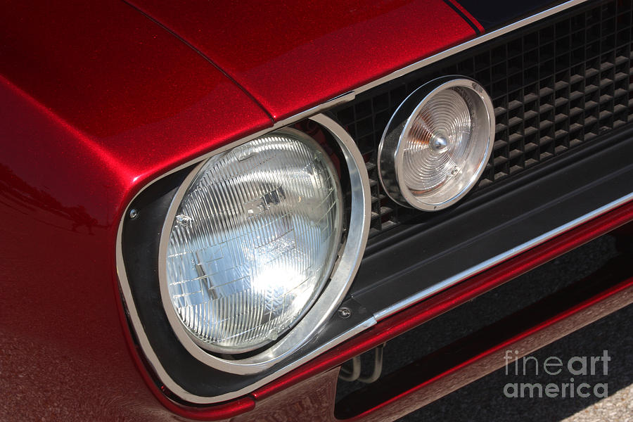 1967 Photograph - 67 Camaro Ss Headlight-8724 by Gary Gingrich Galleries