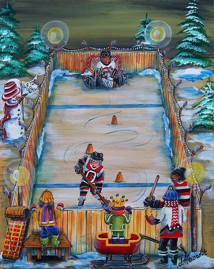 Hockey Painting - 67s Captain In Training by Jill Alexander