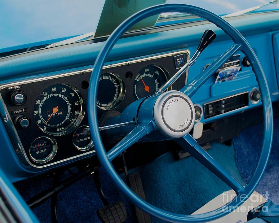 68 Chevy Truck Dash Photograph By Mark Dodd