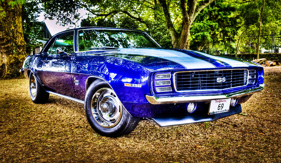 Muscle Car Photograph - 69 Chevrolet Camaro - Hdr by motography aka Phil Clark