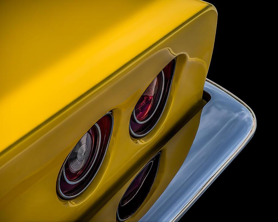 Corvette Digital Art - 69 Corvette Tail Lights by Douglas Pittman