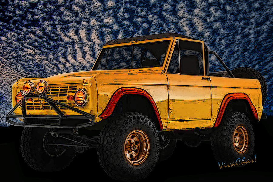 69 ford bronco 4x4 restoration photograph by chas sinklier. Black Bedroom Furniture Sets. Home Design Ideas