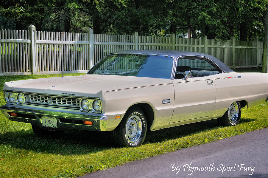 Plymouth Photograph - 69 Plymouth Sport Fury by Thomas Schoeller