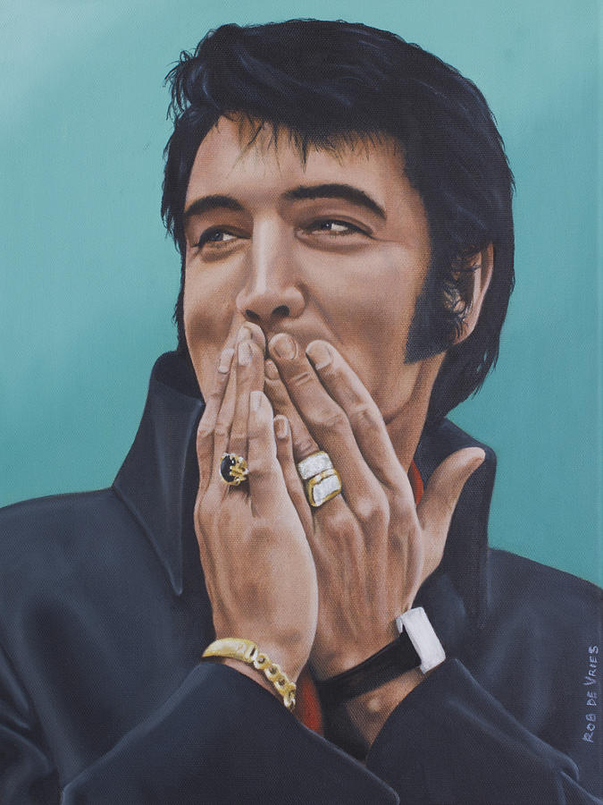 Elvis Painting - 69 Press Conference by Rob De Vries