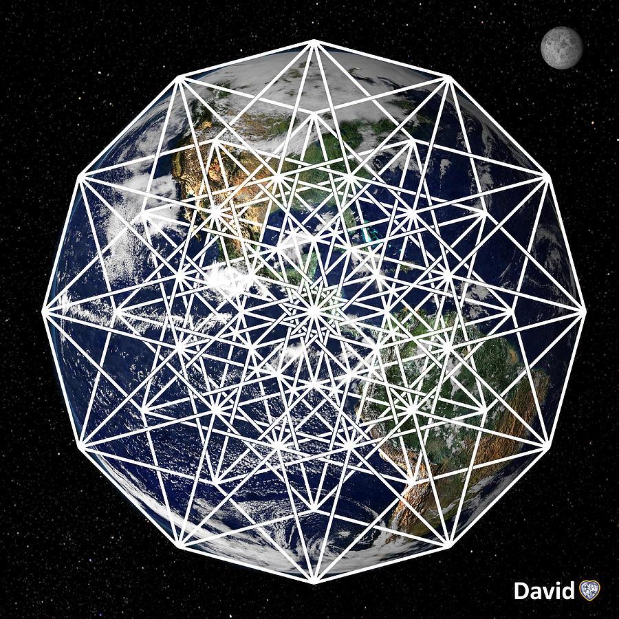 6d Digital Art - 6d Earth by David Diamondheart