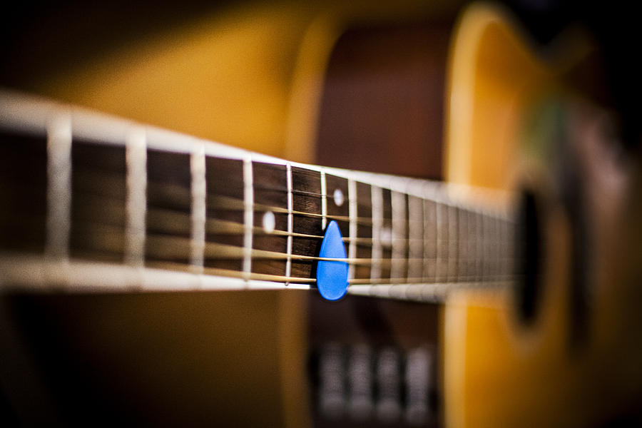 Acoustic Photograph - 6th Fret by Chris Halford