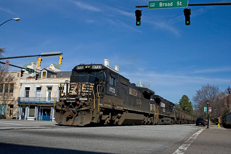 Augusta Photograph - 6th Street Train by Joseph C Hinson Photography