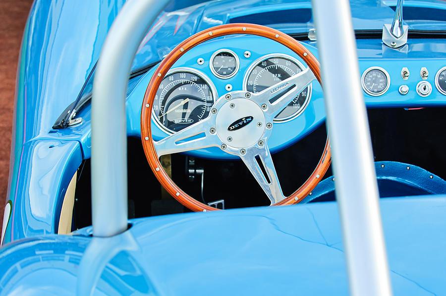 1959 Devin Ss Steering Wheel Photograph - 1959 Devin Ss Steering Wheel by Jill Reger