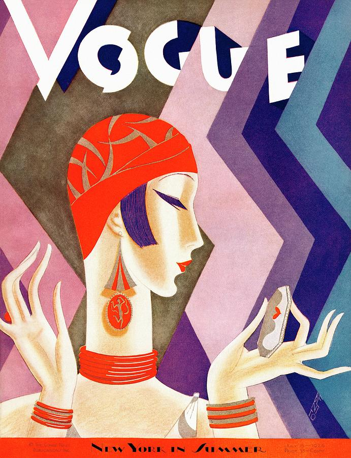 A Vintage Vogue Magazine Cover Of A Woman 7 Photograph by Eduardo Garcia Benito
