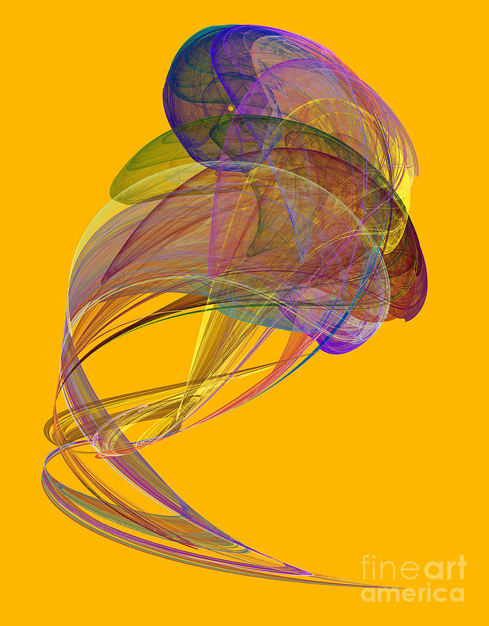 Abstract Digital Art - Abstract Futuristic Shape by Odon Czintos