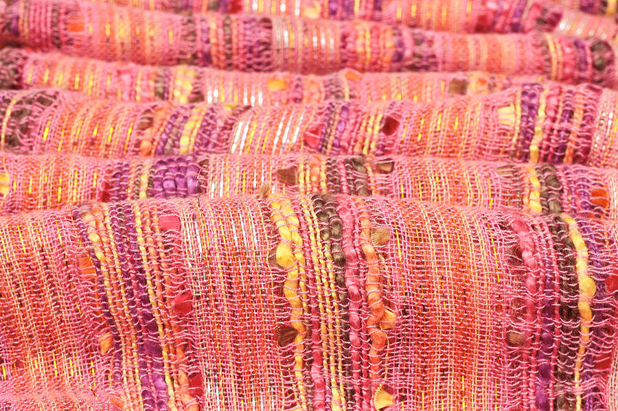 Backdrop Photograph - Colorful Cloth by Tom Gowanlock