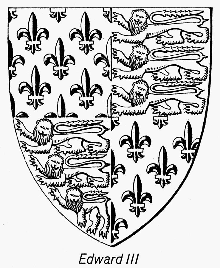 Coat Of Arms Painting - Edward IIi (1312-1377) by Granger