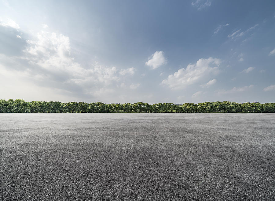 Empty Parking Lot Photograph by Copyright Xinzheng. All Rights Reserved.