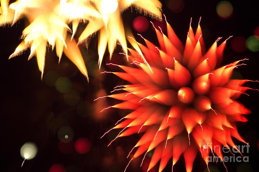 4 Photograph - Fireworks Art by Benjamin Simeneta