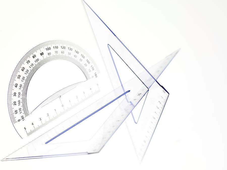 Angles Photograph - Geometry Set by Tek Image