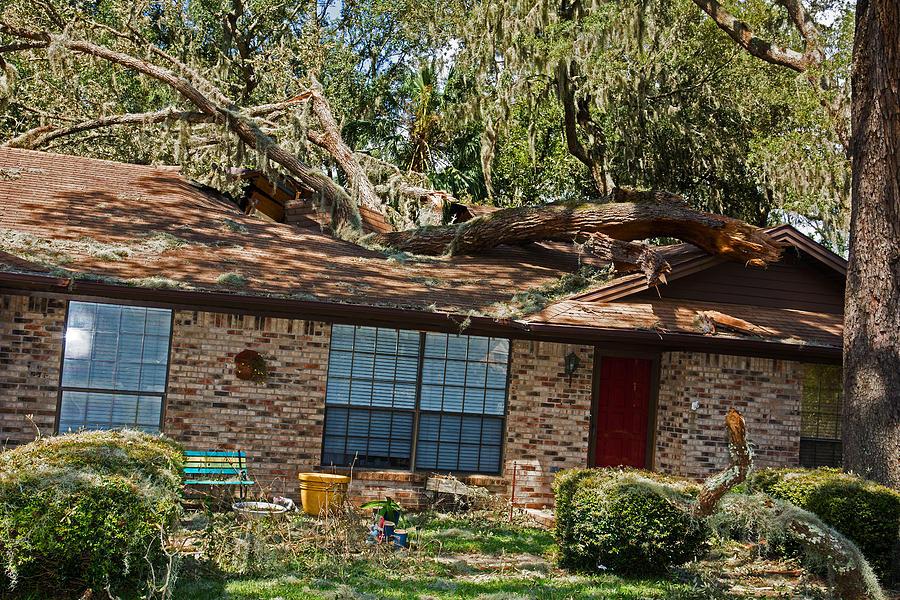 Cyclone Photograph - Hurricane Irma Residential Storm Damage by Millard H. Sharp