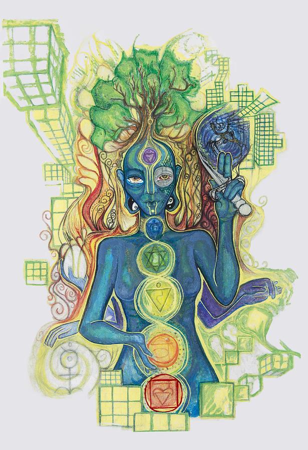 Yoga Drawing - 7 by Jessica McLellan