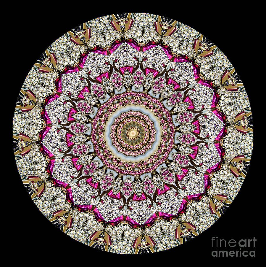 Abstract Photograph - Kaleidoscope Colorful Jeweled Rhinestones by Amy Cicconi