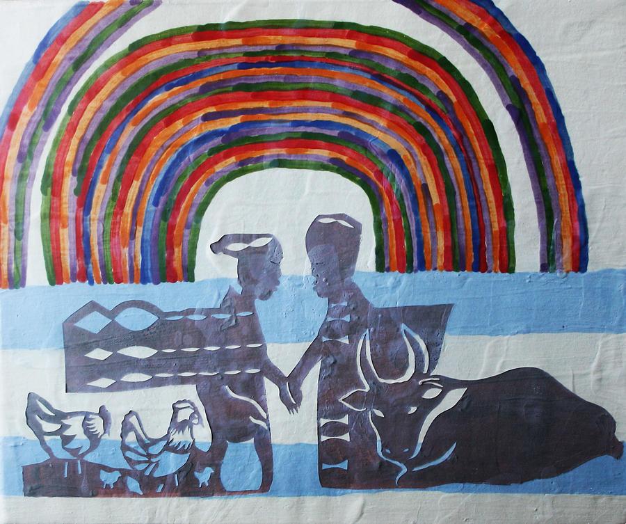 Jesus Painting - Kintu And Nambi by Gloria Ssali