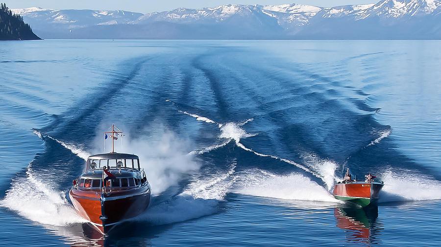Lake Photograph - Lake Tahoe Wooden Boats by Steven Lapkin