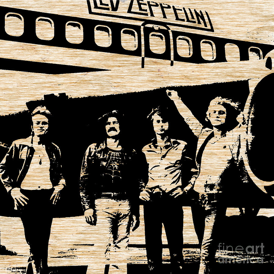Led Zeppelin Mixed Media by Marvin Blaine