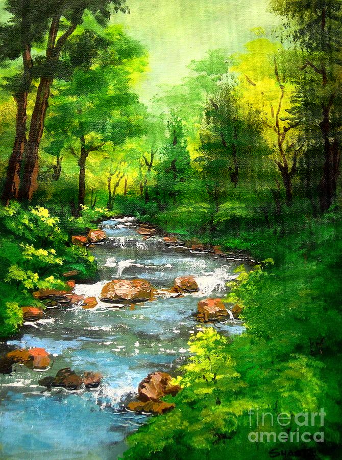 Landscape Painting - Lithia  Park - by Shasta Eone