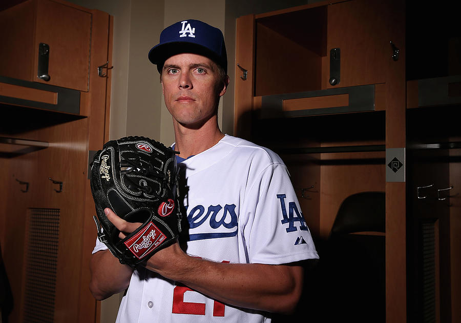 Los Angeles Dodgers Photo Day 7 Photograph by Christian Petersen