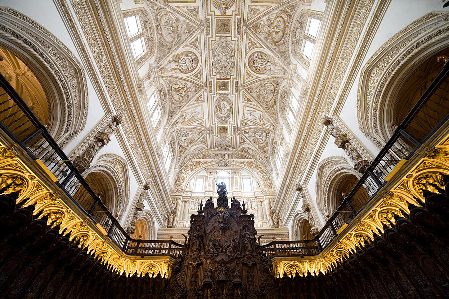 Cathedral Photograph - Mezquita Cathedral Interior In Cordoba by Artur Bogacki