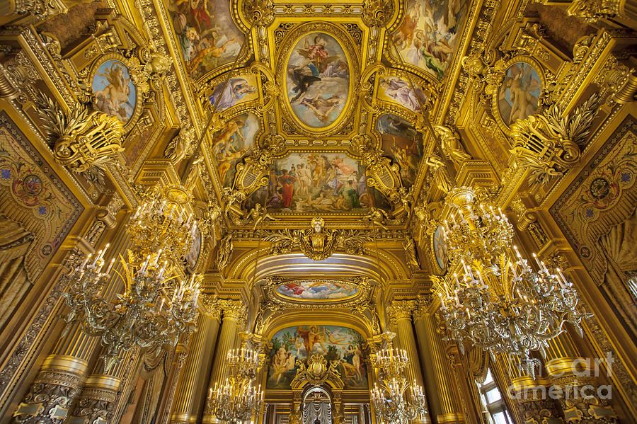 Architectural Photograph - Palais Garnier Interior by Brian Jannsen