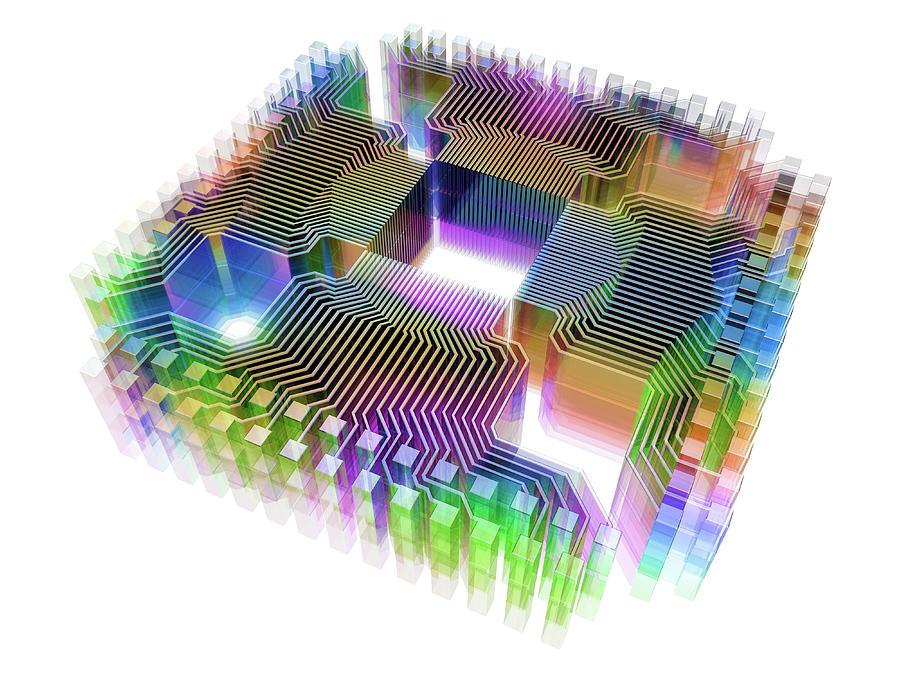 Artwork Photograph - Quantum Computer by Alfred Pasieka