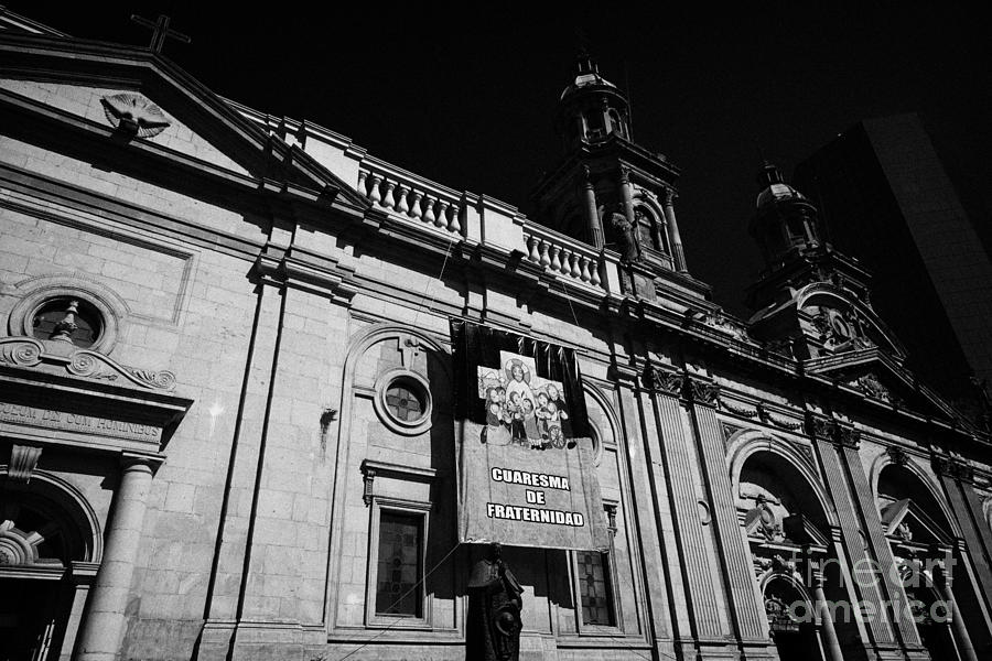 Santiago Photograph - Santiago Metropolitan Cathedral Chile by Joe Fox