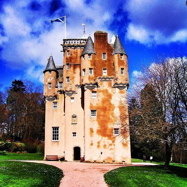 Travel Photograph - Scottish Castle by Luisa Azzolini