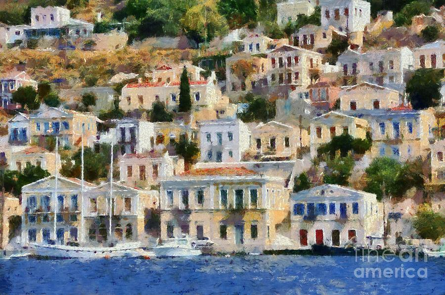 Symi Island Painting