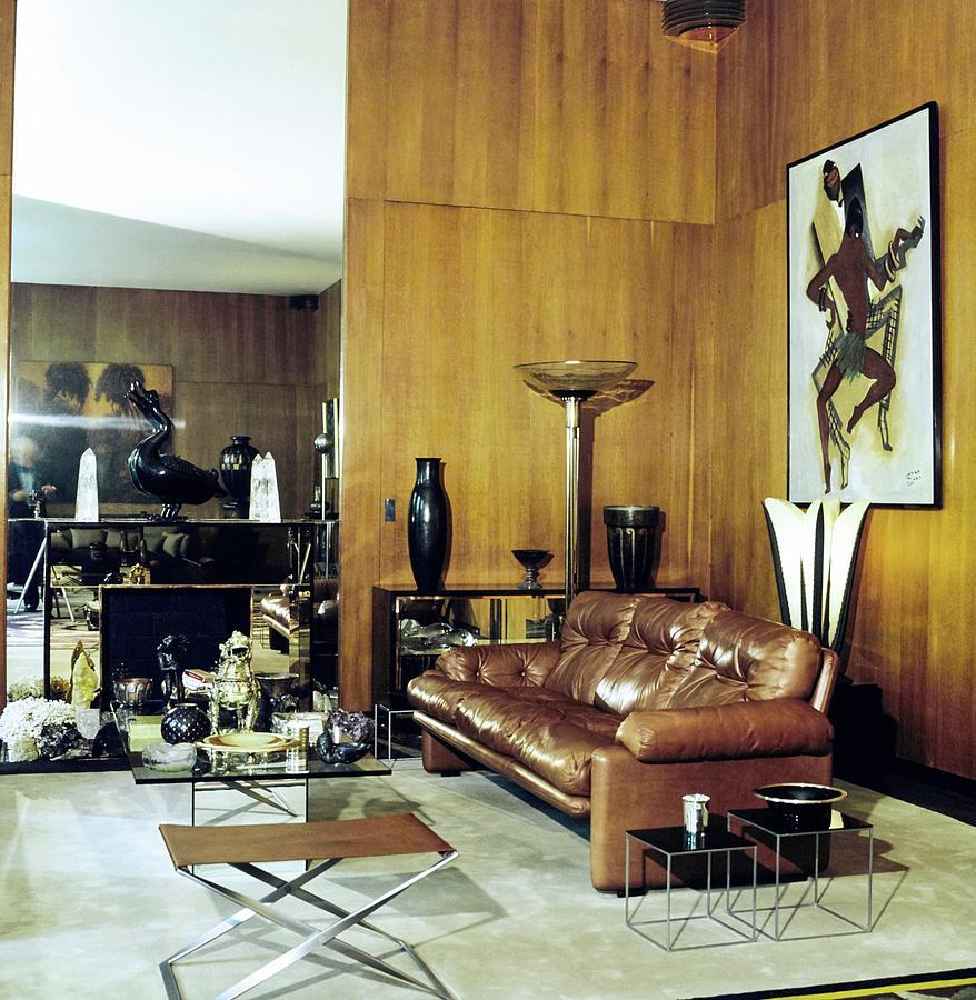 Paris Photograph - Yves Saint Laurents Living Room by Horst P. Horst