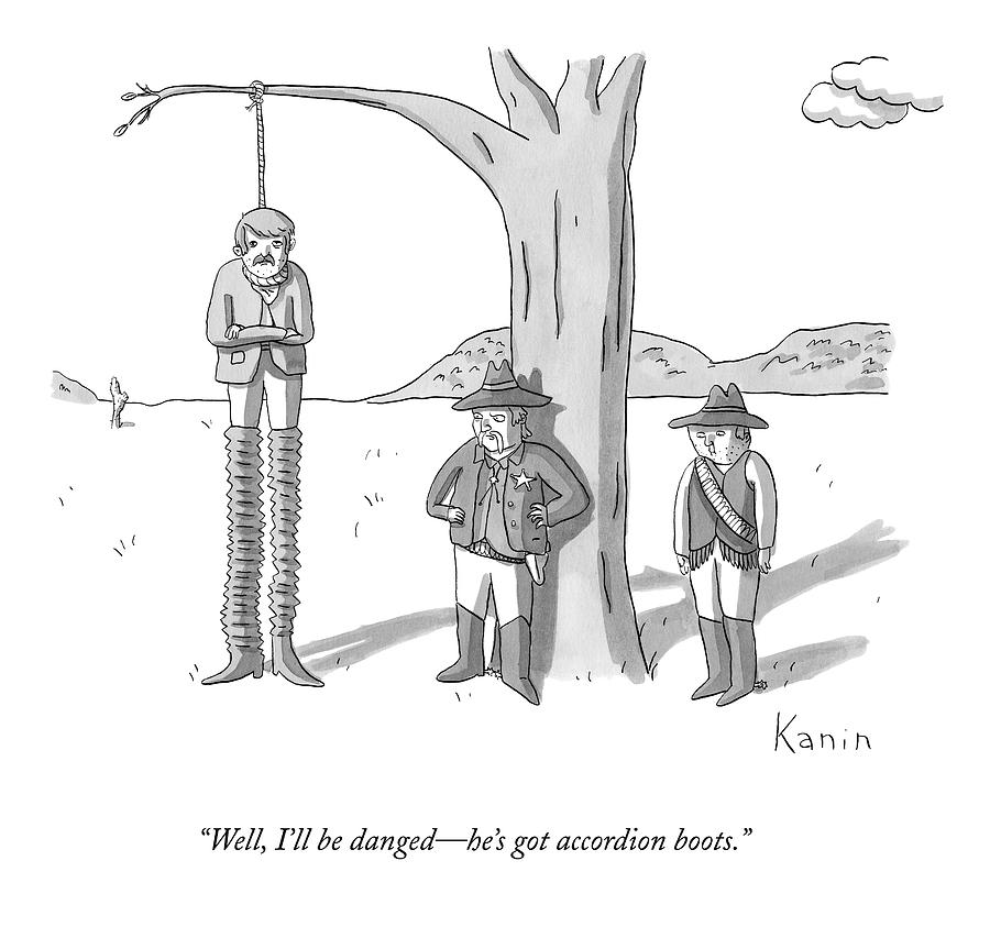 Well, Ill Be Danged - Hes Got Accordion Boots Drawing by Zachary Kanin
