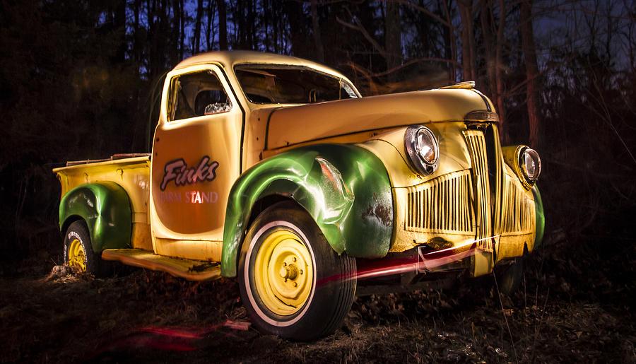Deidre Elzer-lento Photograph - 7136 Old Truck Lightpainting by Deidre Elzer-Lento