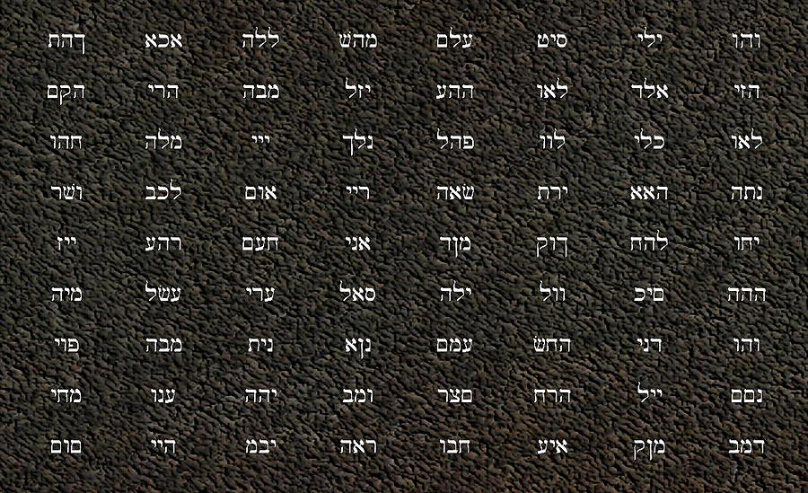 Church Digital Art - 72 Names Of God by James Barnes