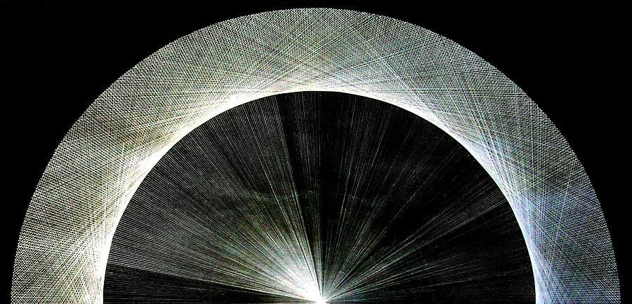 Circle Drawing - 720 Pi Half Rainbow by Jason Padgett