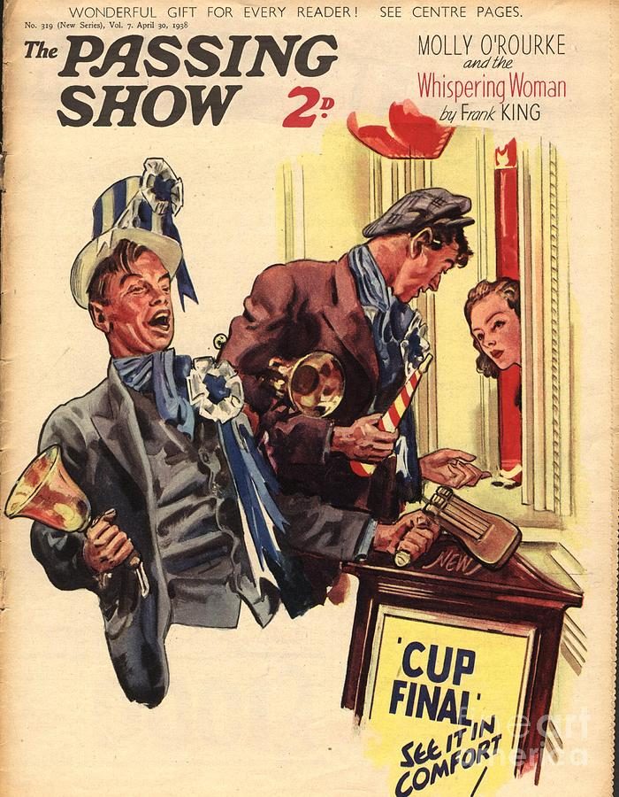 Football Drawing - 1930s,uk,the Passing Show,magazine Cover by The Advertising Archives