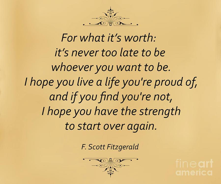 F. Scott Fitzgerald Photograph - 74- F. Scott Fitzgerald by Joseph Keane